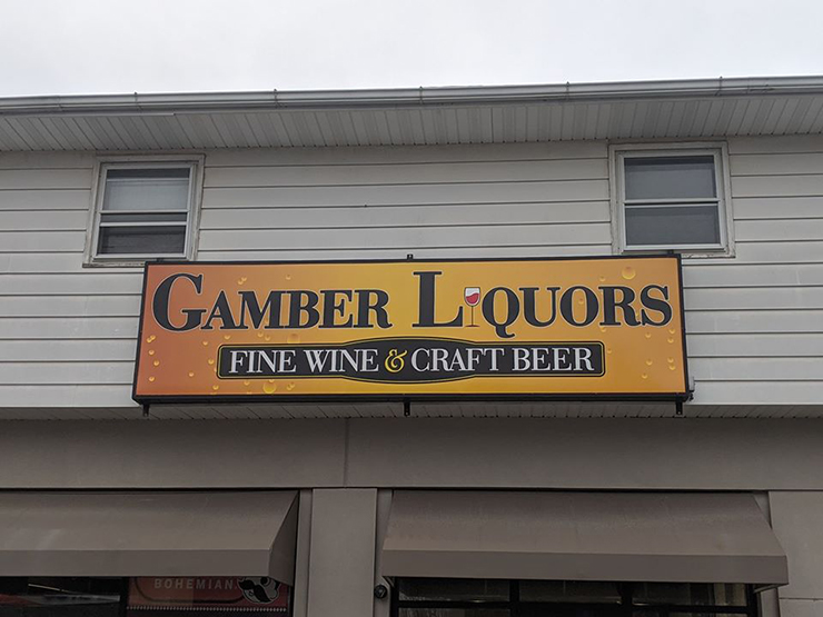 Gamber Liquors is the local destination for beer, wine, and spirits.